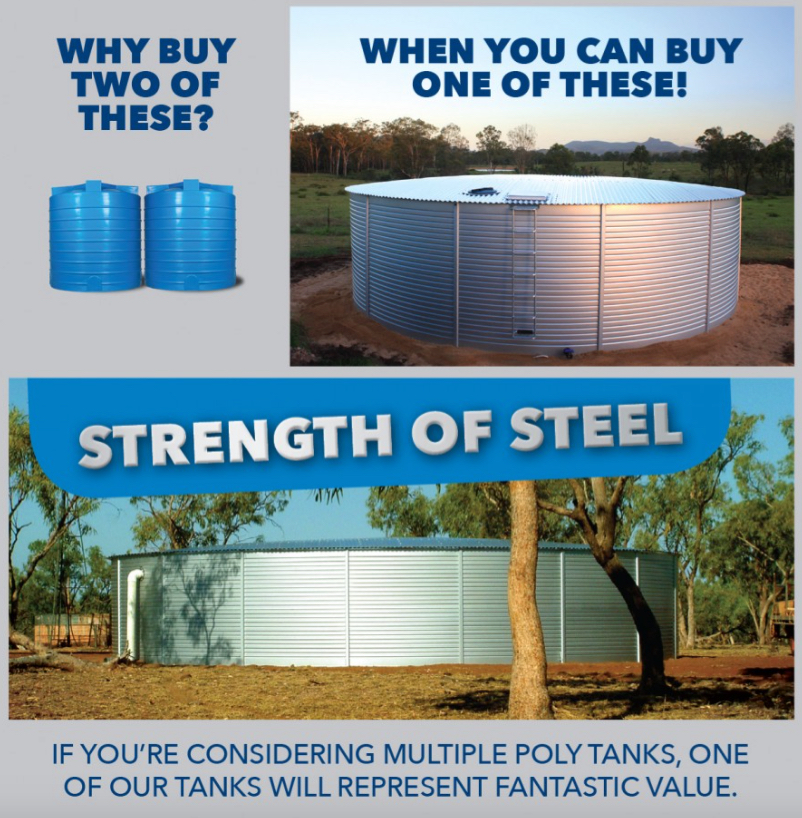 Why a steel water tank